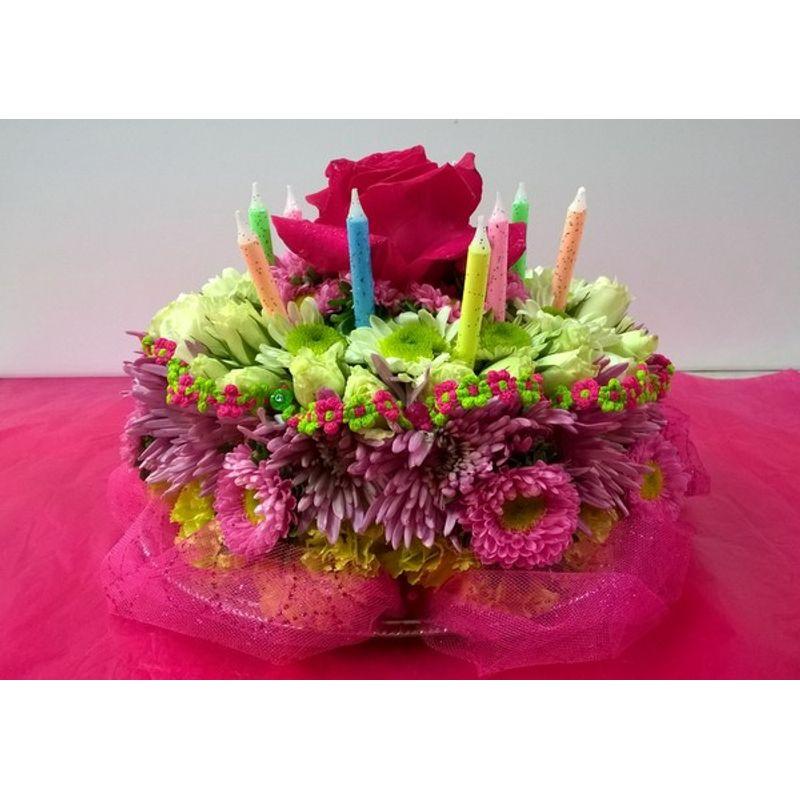 Blooming Birthday Cake 1