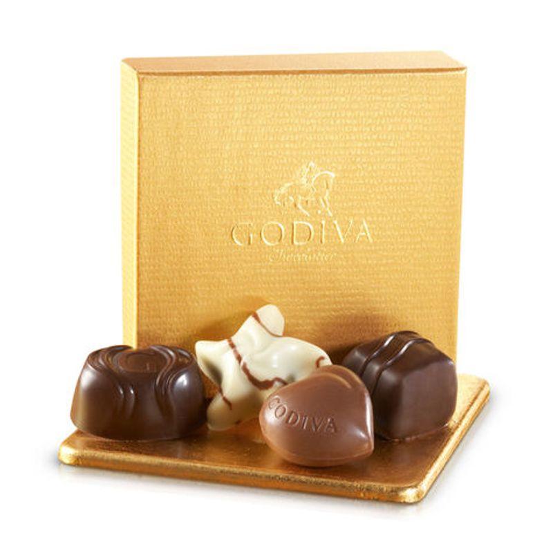 Godiva Chocolates 4 Pc Gold Favor Edmond Ok Florist Designs By