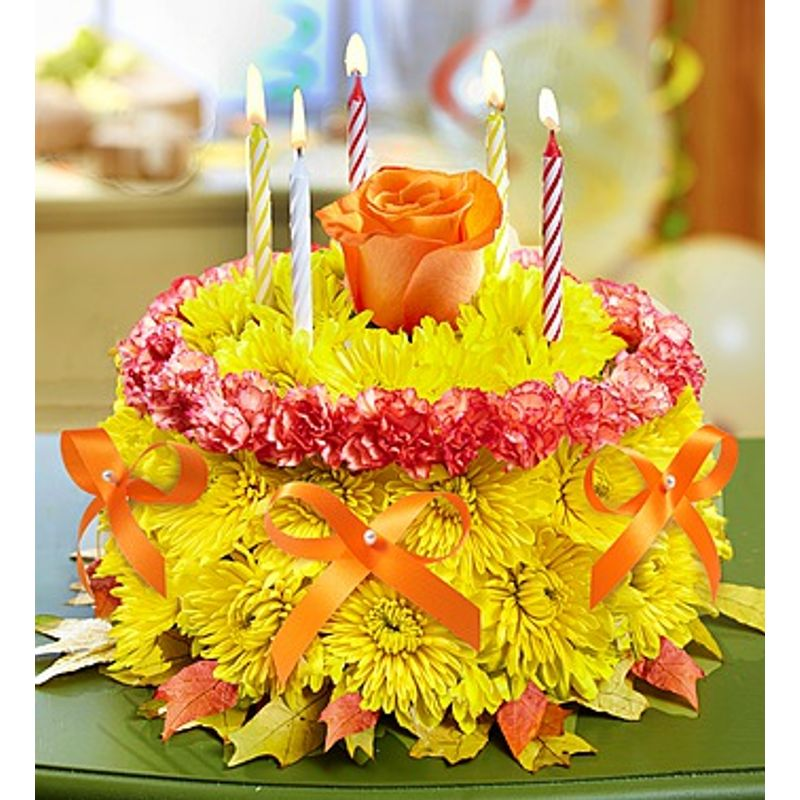 Description Birthday Flower CakeR