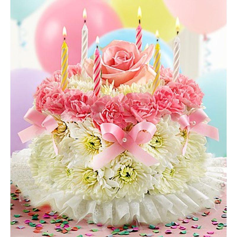 Description Birthday Flower CakeR