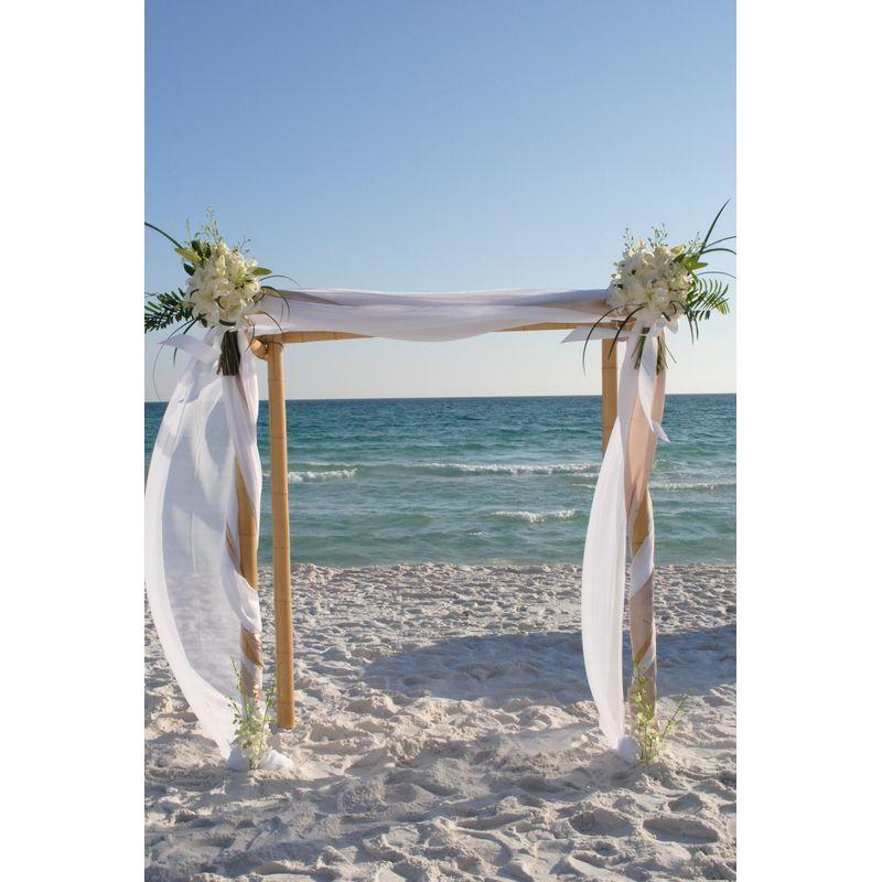 Bamboo Wedding Arch: 4 Post Bamboo Arch Destin Floral Designs