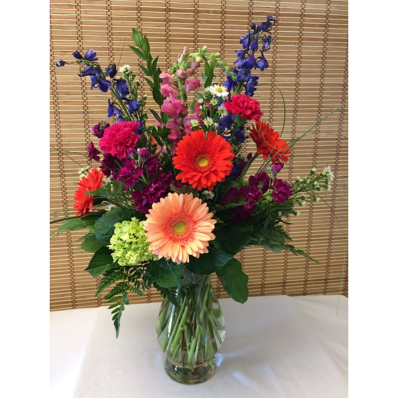 Bright Elegant Vase Dicks Flowers Inc Alton Wood River Il