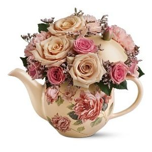 Doss flowers gifts victorian teapot bouquet vtp101 in plant city fl doss flowers gifts negle Choice Image