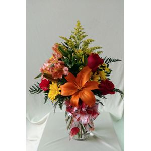 Doss flowers and gifts all a bloom florist local florists best orange fall vase design av142 in plant city fl doss flowers gifts mightylinksfo