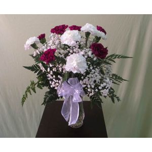 Doss flowers and gifts all a bloom florist local florists best purple and white carnations dozen av122 in plant city fl doss flowers gifts mightylinksfo