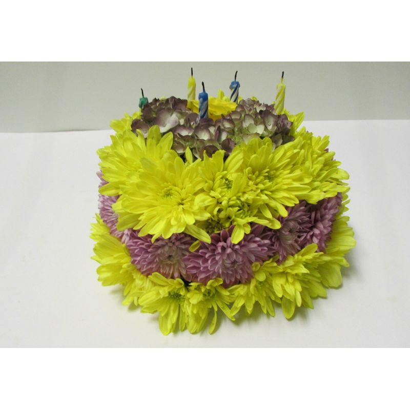 Flower Birthday Cake ABK100 1
