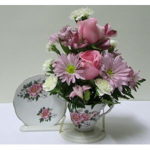 Doss flowers and gifts all a bloom florist local florists best pink tea cup atc101 in plant city fl doss flowers gifts mightylinksfo