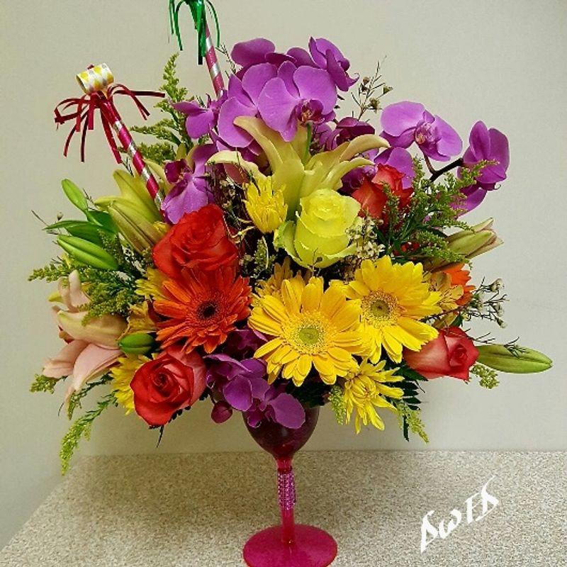 Tropical Martini Bouquet Dream World Florist & Decor - Quality fresh ...