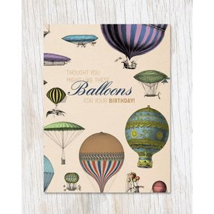 Balloons For Your Birthday Greeting Card Ecostems