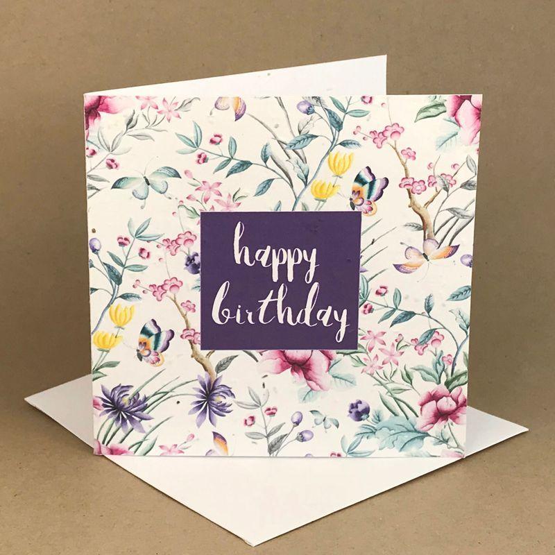 birthday flower wall plantable greeting card ecostems