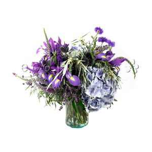 Blue/Purple Seasonal Arrangement in Toronto Ontario, eco|stems