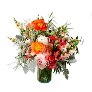 Pink Seasonal Hand-tied Bouquet in Toronto Ontario, eco|stems