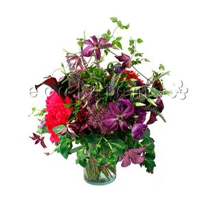 Purple/Fuchsia Seasonal Hand-tied Bouquet in Toronto Ontario, eco|stems