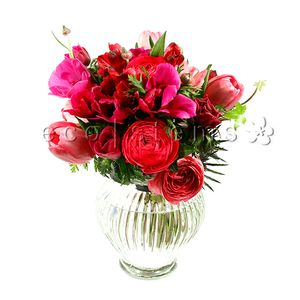 Red and Pink Seasonal Arrangement in Toronto Ontario, eco|stems