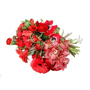 Red Seasonal Hand-tied Bouquet in Toronto Ontario, eco|stems