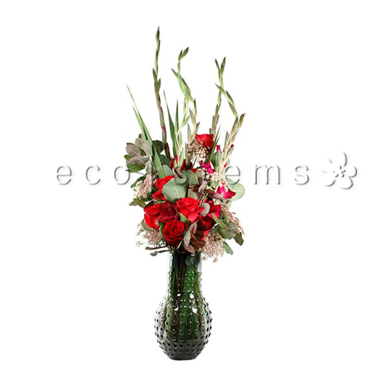 Tall Linear Mixed Arrangement Eco Stems Toronto S Local Eco Friendly Florist Daily Flower Bouquet Delivery Near You Same Day