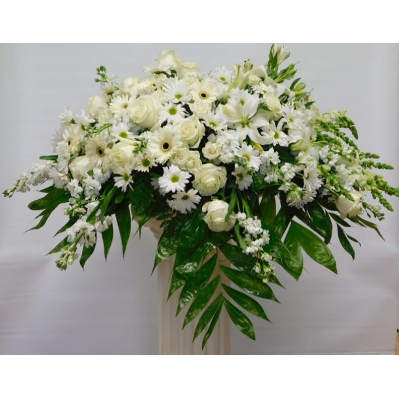 White color casket cover eden flowers local flower shop norcross more views mightylinksfo
