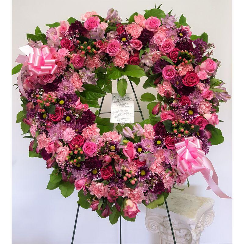 Open Heart Wreath Eden Flowers , Local Flower Shop