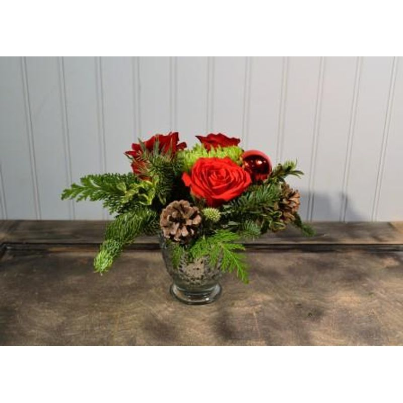 262f3dfaa Petite Mercury Glass and Roses The English Garden Flower Shop