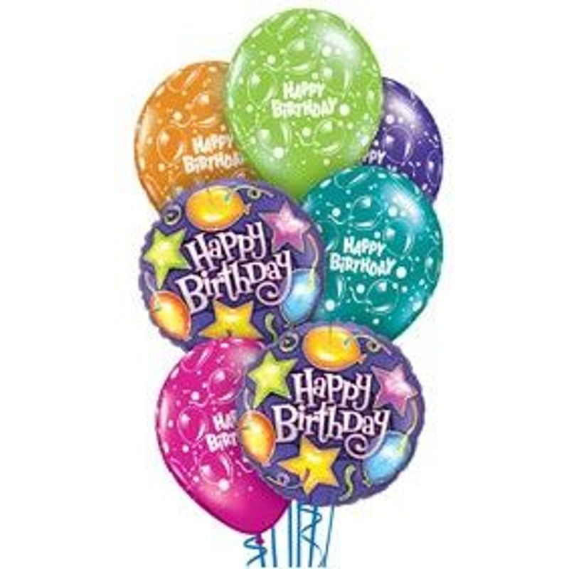 8 MYLAR BALLOON BOUQUET Tallahassee Flower Delivery
