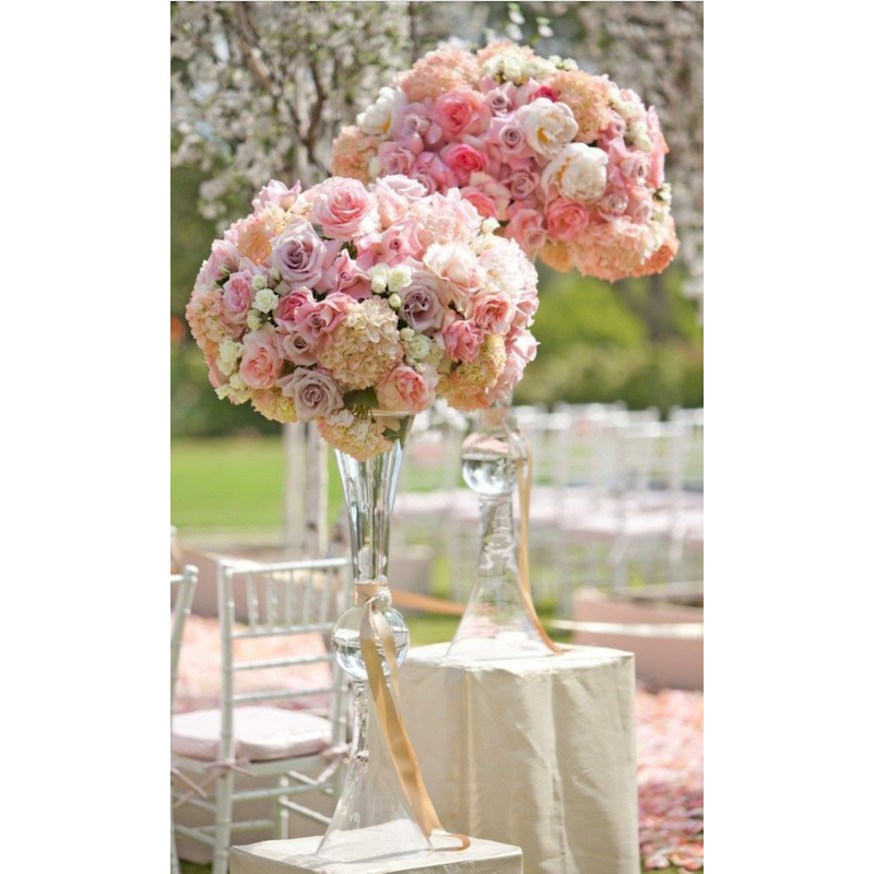Pink Wedding Centerpiece Ideas: Blush Pink Wedding Centerpiece Estella Flowers