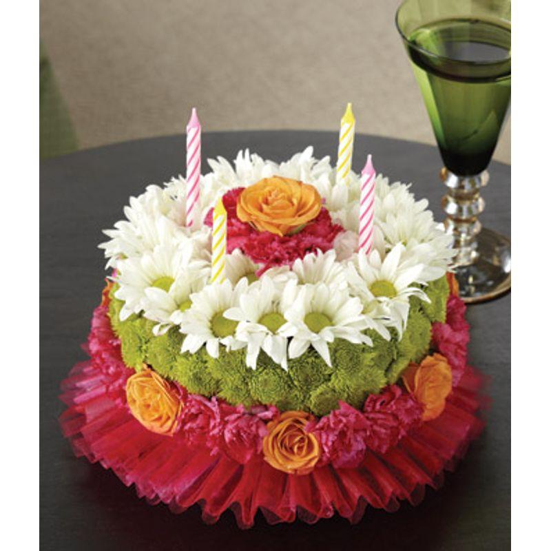 Happiest Birthday Flower Cake HEMETS REAL LOCAL FLORIST