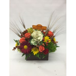 Every bloomin thing we are jersey shore flowers autumn square wood box in forked river nj every bloomin thing mightylinksfo