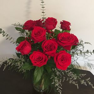 Valentine Roses in Frederick MD, Freesia and Vine