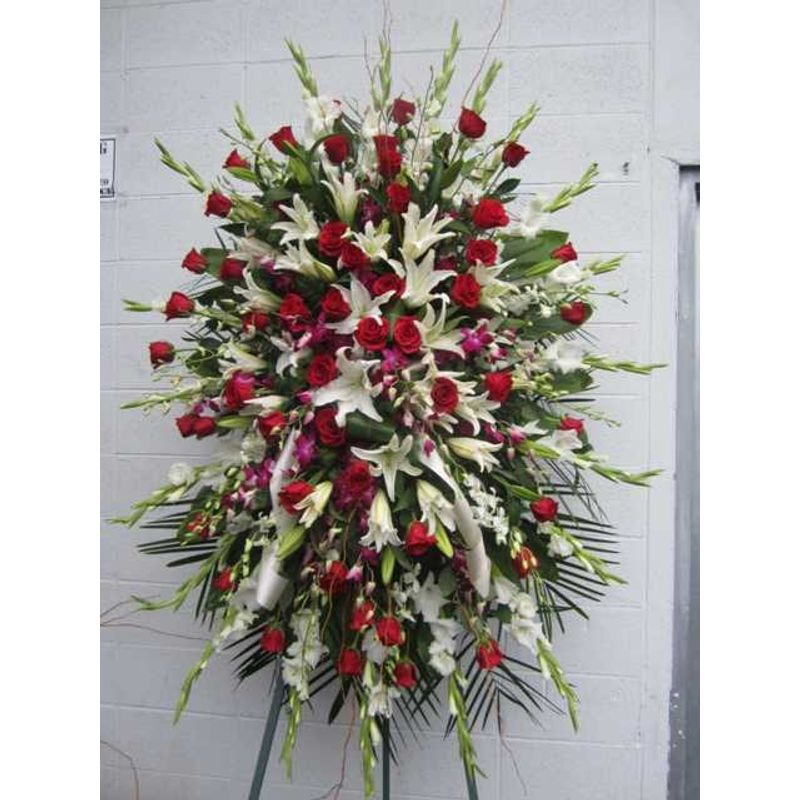 Unity in red and white the meaning love fe02 fleur de lis florist more views mightylinksfo