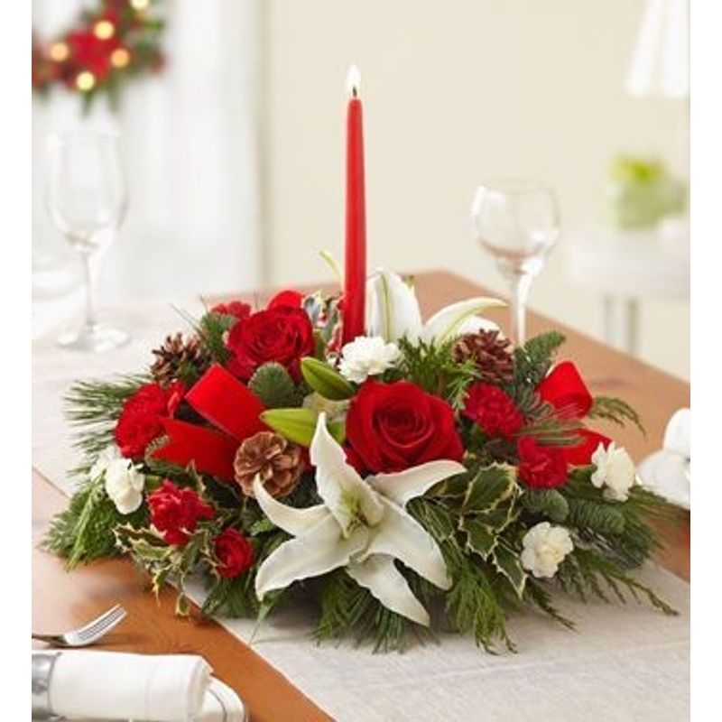 Holiday centerpiece florist in carlsbad ca flower delivery