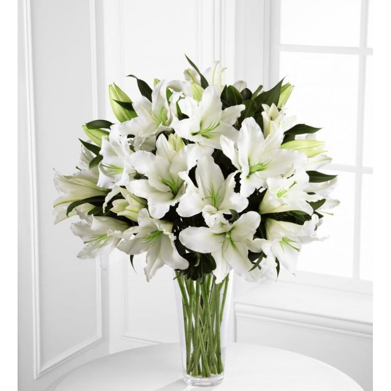 20 White Stargazer Lilies Florist In Carlsbad Ca Flower Delivery