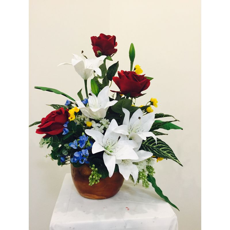 Red rose silk arrangement florist in carlsbad ca flower delivery more views mightylinksfo