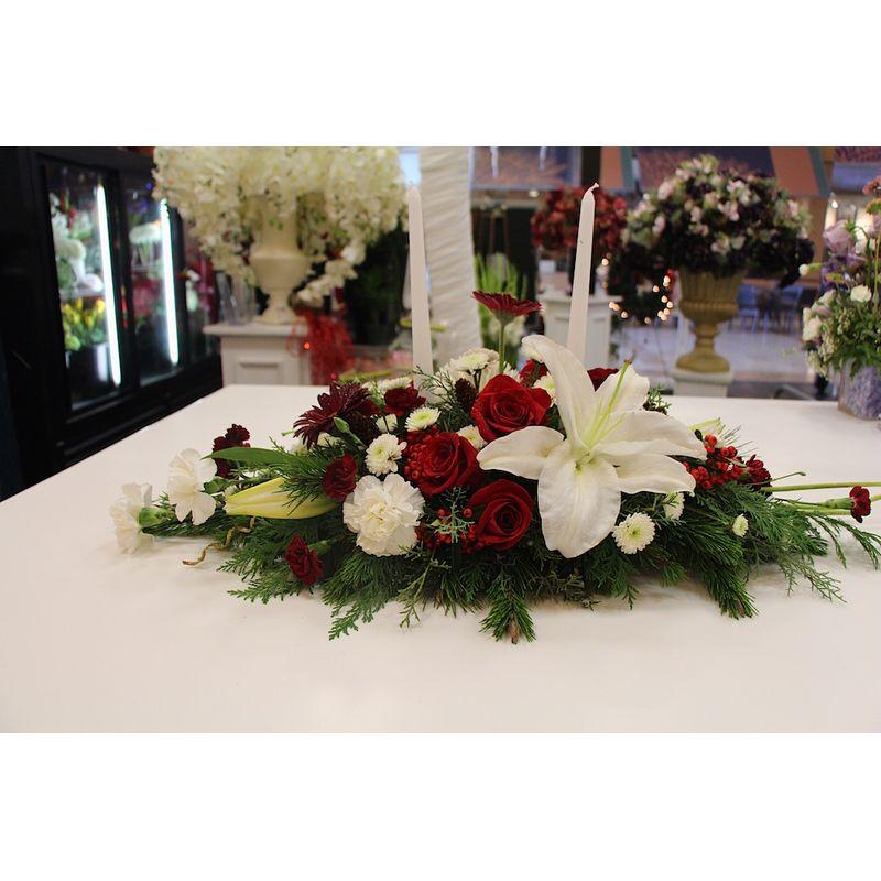 Holiday joy centerpiece florist in carlsbad ca flower