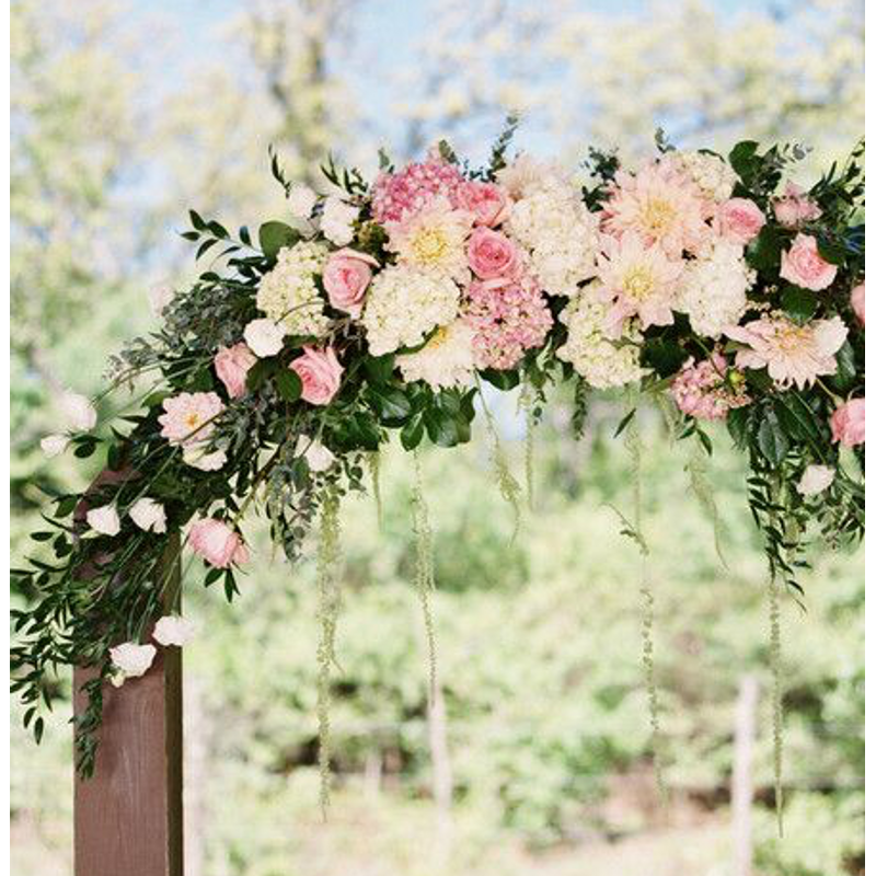 Lush Floral Wedding Arch Rowlett Florist Flower Delivery Gift Baskets Treasured Blossoms