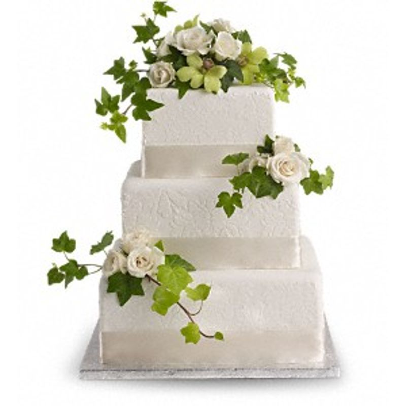 Roses And Ivy Cake Decorations Lutz Florida Florist The Flower Box
