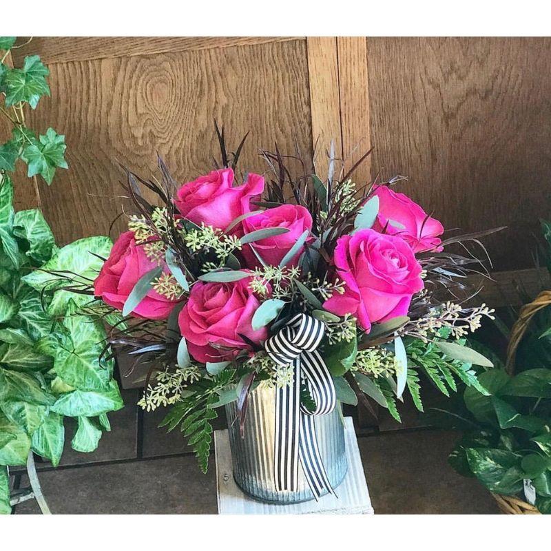 Half Dozen Roses low and lush