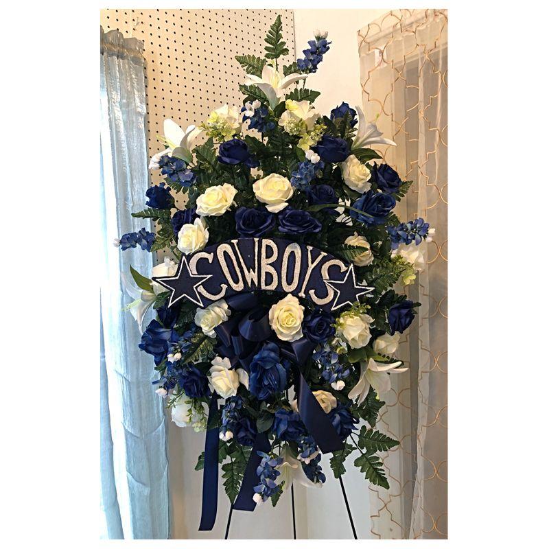 Dallas Cowboys Silk Spray The Flower Shop