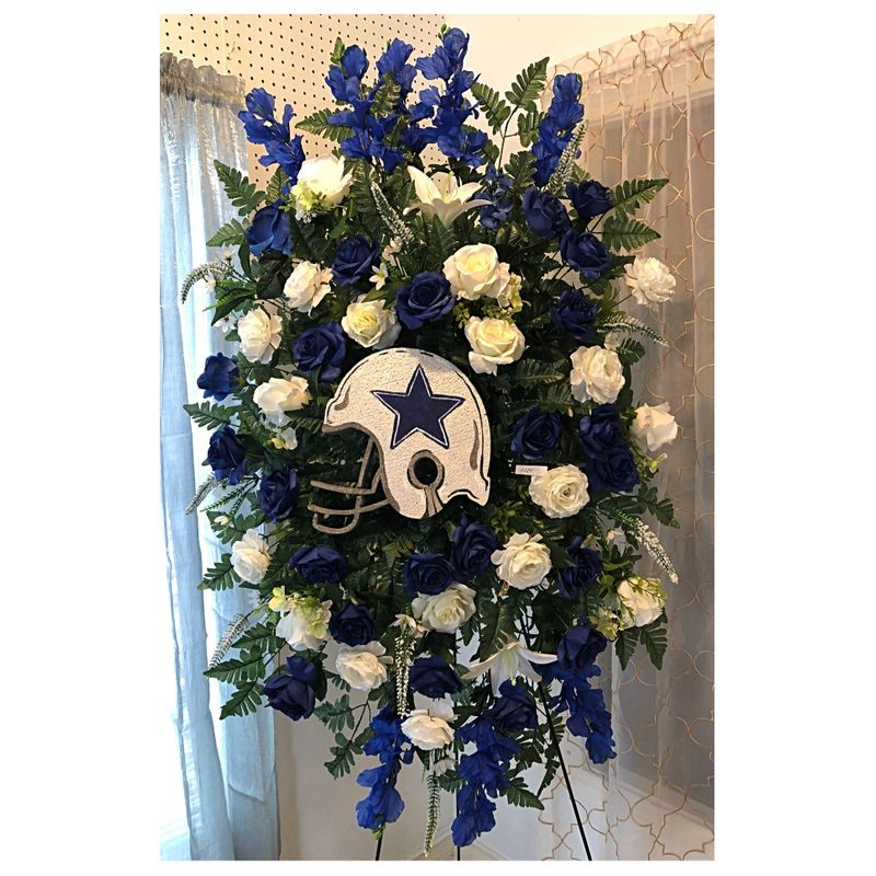 Dallas cowboys silk spray 2 the flower shop more views mightylinksfo