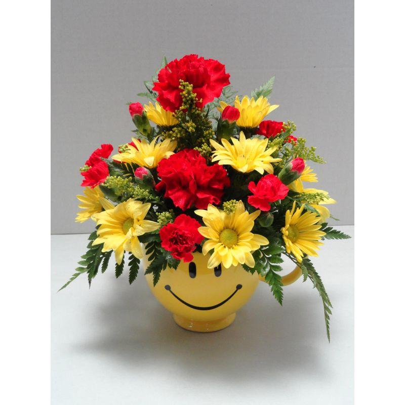 Smiley Face Mug The Flower Shoppe Jacksonville Nc Florist
