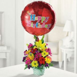 Happy Birthday Basket London Florists Flower Delivery Ontario
