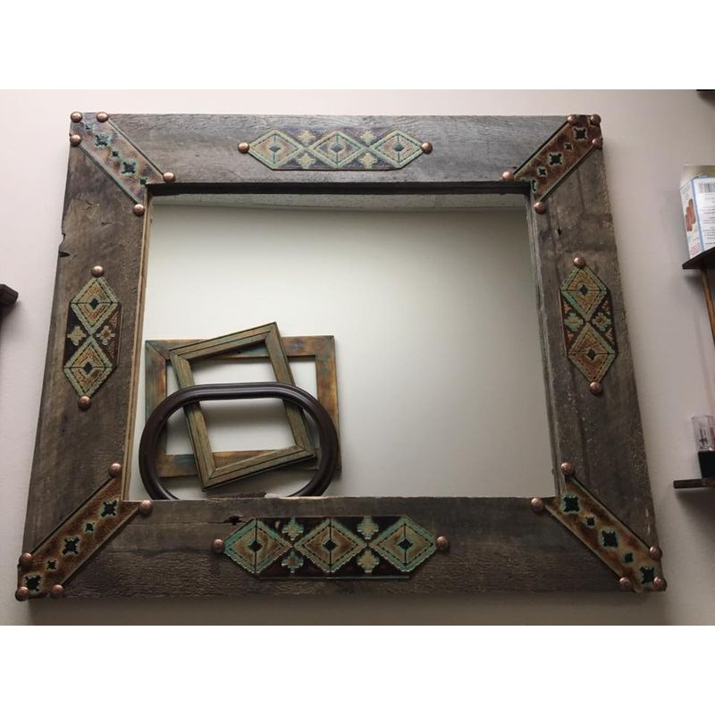 Barn wood Mirror Spearfish Florist - Flying E Floral and Designs