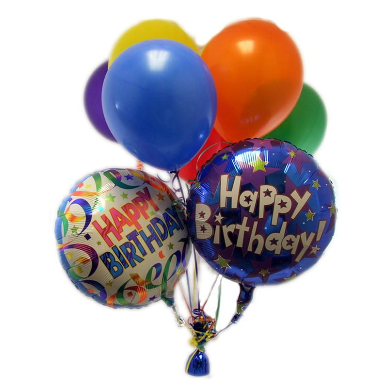 Mylar Happy Birthday Balloon Bouquet Muncie Florist