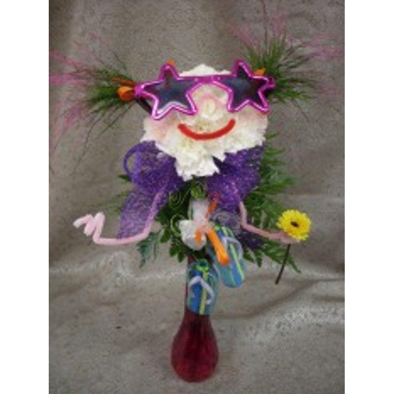 Smiley Face Vase Forget Me Not Flower Shop Lexington Oh