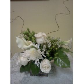 Local lilburn florist freesia floral design white rose mini calla centerpiece in lilburn ga freesia floral design mightylinksfo