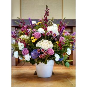 Local lilburn florist freesia floral design spring mix altar flowers in lilburn ga freesia floral design mightylinksfo