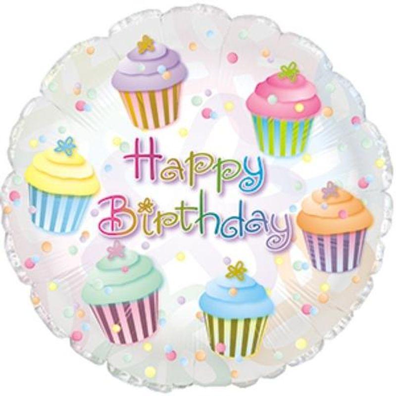 Happy Birthday Cupcake Balloon Galleria Florist Local Flower Shop