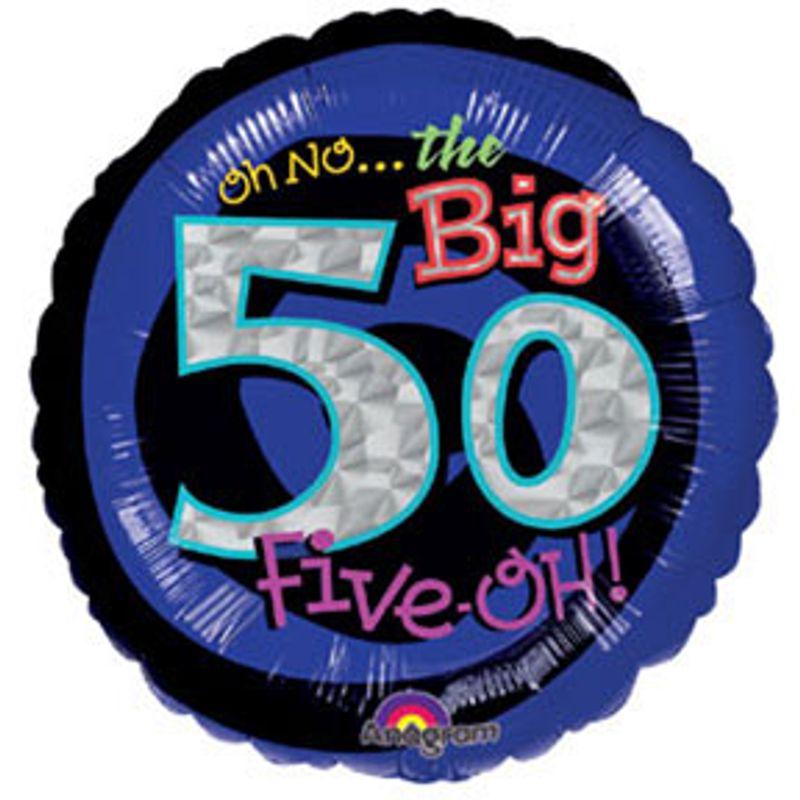 50th Birthday Mylar Balloon Mebane NC Florist Gallery And