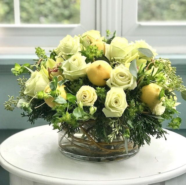 Lemonade Floral Arrangement Maplewood Florist Garden Of Edith Local Flower Delivery Maplewood Nj 07040