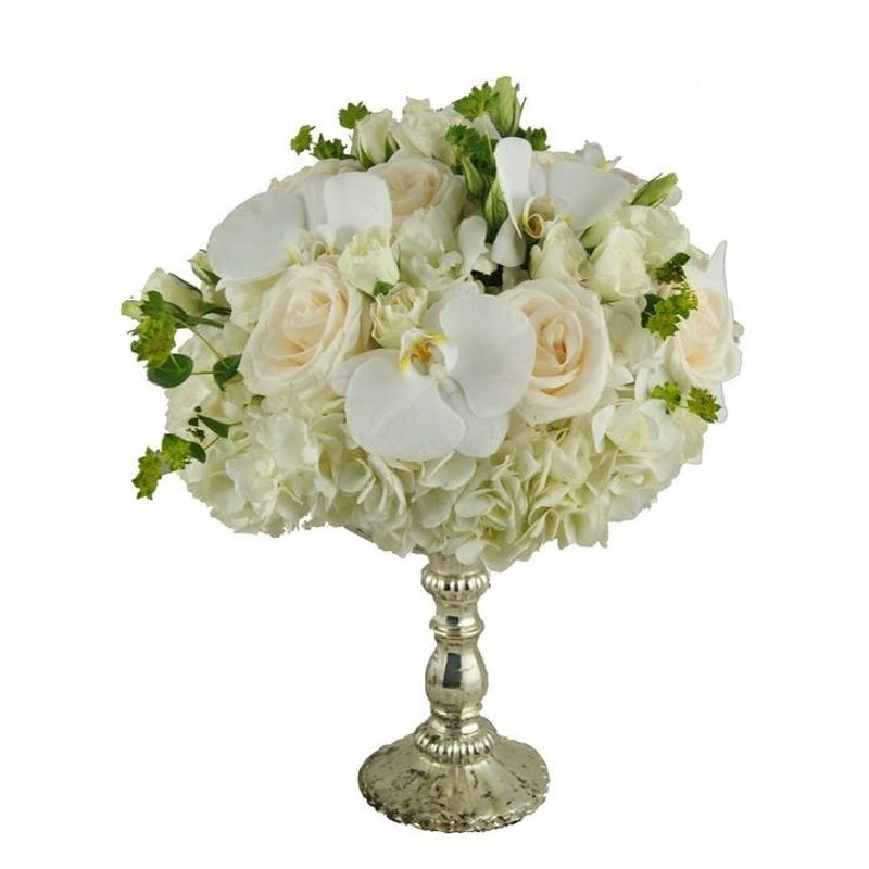 Centerpiece On Silver Stand Roswell Florist Hamilton Flowers Local Flower Delivery Roswell Georgia 30075