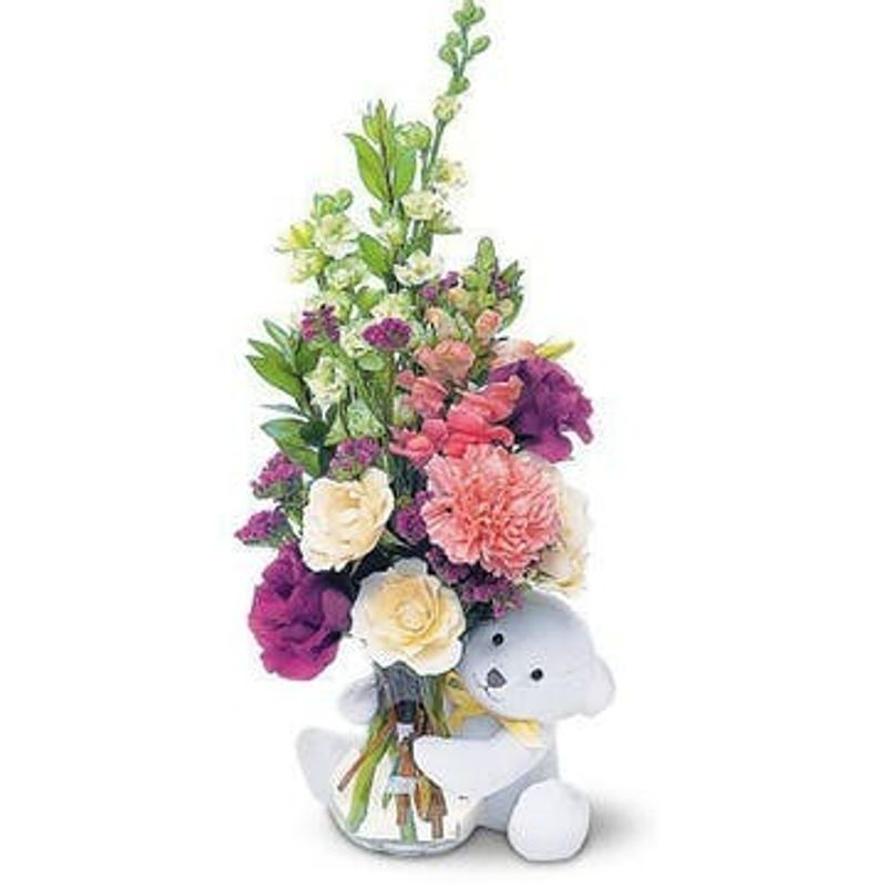 Fresh With Teddy Bear Frostburg Florist Harvey S Florist